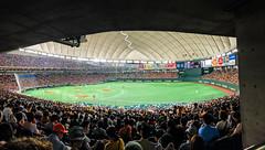 Tokyo Yomiuri Giants Baseball Game at Tokyo Dome - Tokyo Japan (mbell1975) Tags: bunkyōku tōkyōto japan jp tokyo yomiuri giants baseball game dome nippon 日本野球機構 yakyū kikō プロ野球 npb japanese 東京ドーム tōkyō dōmu baseballstadion stadion panorama panoramic pano