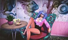 Belt Up, Betty! In the pink.. (||Tempest Rosca Photography||) Tags: tempestrosca tempestroscaphotography vintagefair secondlife secondlifeblog secondlifefashion secondlifeposes sl slfashion slblog avenge glitzz palegirlproductions twk macca circa anite im beltupbetty nx nardcotix