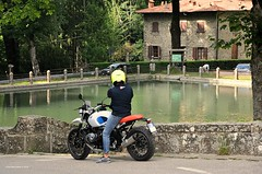 Vallombrosa Abbey (Chris Maroulakis) Tags: vallombrosa abbey lake forest biker reggello nikond7000 chris maroulakis toscana tuscany italia2018