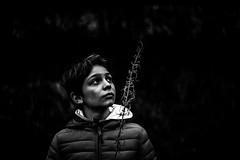 Winter portrait (PaxaMik) Tags: portrait portraitnoiretblanc contraste black blackandwhitephotos noiretblanc visage face winter hiver hivernal portraitdhiver noir n§b