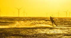 Skidding Along (Tony Shertila) Tags: england sea tonysherratt activity beach britain coast colours copywrite europe flying irishsea kite liverpoolbay merseybay movement sand skyclouds sort sport sunset wallasey waves windsurfing wirral ©2018tonysherratt unitedkingdom