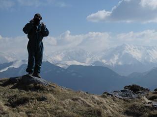 14/032014 les Pyrénées vu du sommet de cornudère..