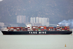 containership Yang Ming YM Width passing Tuen Mun, Hong Kong (Jaws300) Tags: yang ming ym width containership sailing ship container yangming ymwidth boat boats vessel vessels shenzen harbour harbor tuenmun tuen mun nt newterritories new territories yangmingline line sky tree building hong kong island ships china hongkong water waters shipping channel channels shippingchannel freight cargo pearl river delta pearlriverdelta containers islands lantau lantauisland flagged passing north canon5d canon