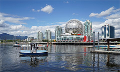 Cindy Lee (leuntje) Tags: vancouver britishcolumbia bc canada falsecreek scienceworld falsecreekferries ferry architecture worldexpo86 brunofreschi skyline