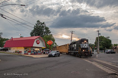 NS EMD GP38-2 #5290 @ Morrisville, PA (Darryl Rule's Photography) Tags: 2018 aestaley buckscounty cpdq conrail conrailsharedassets dairyqueen delmorrave july local morrisville night oldline pa pc prr penncentral pennsy pennsylvania pennsylvaniarailroad railroad railroads staleylocal streetrunning summer sunset tollbrothers train trains ypmor1mor1