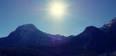 MORNING SUNBURST (Rob Patzke) Tags: sunburst panasonic lx100 lumix blue ray sun trees