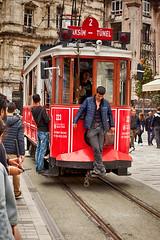 Tranvía nostálgico (osolev) Tags: tranvía tram nostalgico beyoglu pera taksim tünel istiklal estambul istanbul turquia turquie turkey europe europa hdr cs5 ps city urban transporte transport tramway