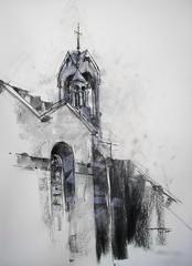 P1018300 (Gasheh) Tags: art painting drawing sketch church pencil charcoal pastel gasheh 2018
