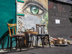LR Jordan 2017-4230589 (hunbille) Tags: jordan amman jabal alweibdeh weibdeh mural street art streetart wasfi el tal steps wasfieltalstreet eye chair two challengeyouwinner cyunanimous cy2