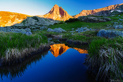 Haramiata peak (Plamen Troshev) Tags: rocks mountain landscape lake snow flowers waterfall reflection adventure new nature sky clouds 7th lakes