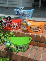 Graduation Gifts : fun n whimsical monogrammed and personalized bins, buckets and pails…….. $19… (giftsmaps.com) Tags: gifts