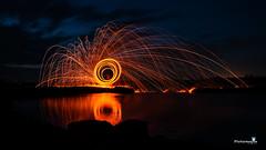 Fire Bloom (@LeFraming) Tags: firework steelwool iamnikon india slow shutter nikon nightphotography water waves wind adobe hue red yellow orange
