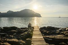 Solar path (good.fisherman) Tags: pier jetty water bay coastline moored marina horizon over seascape thailand phiphi travel relax sun solar