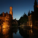 Bruges by night (DeniseJC) Tags: bruges brugge belgium night canal reflection