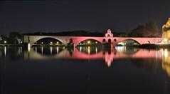 Pont Saint Bénezet - Avignon (hervétherry) Tags: france provencealpescôtedazur vaucluse avignon canon eos 7d efs 18200 pont bénezet rhône illumination reflet reflection reflexion nuit night