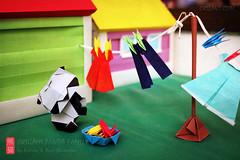 Origami Panda Monday Laundry (Katrin Ray) Tags: origamipandamondaylaundry oripandasdoinglaundrytoo origamipandafun pandamonday laundry dress pands pegs clothes oripandas origamipandamondayfun pandorable pandaful pandastic pandalicious origamibabypanda origamipandafamily publication book oriland origami おりがみ 折り紙 paperdesign origamibyyurikatrinshumakov panda colours textures orilandcom paperart noglue yuriandkatrinshumakov katrinray toronto ontario canada canonphotography canon eos rebel t6i 750d