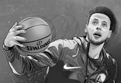 Stephen Curry (Lovatto Ilustrador) Tags: stephen curry nba lovatto basketball basquete sport portrait retrato drawing desenho dibujo illo illustration ilustracao ilustração shooter golden state warriors national association sampa são paulo brasil brazil eua usa lovattoilustrador