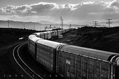 Curving at Hermosa (Colorado & Southern) Tags: unionpacific unionpacificrailroad autoracks manifest manifesttrain searchlightsignals shermanhill overlandroute trains train railfanning railroad railfan railway railroads railroading rail rr railroadtrack wyoming wyomingtrains wyomingrailroads