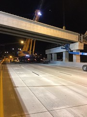 Girder setting over southbound I-5 in Tacoma on June 19 (WSDOT) Tags: cm hov tacoma girders bridge interstate5