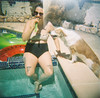 """""""I think you are very pretty!"""" (H o l l y.) Tags: lomography 120mm analog film diana color girl pool dog puppy outside float sunglasses fashion pizza knees tattoos desert las vegas pretty popsicle retro indie vintage"""