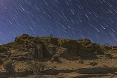 Star Trails In The Anza-Borrego Desert Under An 85% Moon (slworking2) Tags: borregosprings california unitedstates us anzaborrego anzaborregodesertstatepark night stars startrails starstax desert landscape