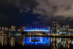 BC place stadium (thierryLha) Tags: stadium night boat vancouver