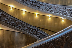 Exit stairs at Vatican Museums (twistedtigger) Tags: stairs staircase vaticanmuseums dizzy