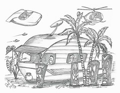 Homestead (rod1691) Tags: myart art sketchbook bw scfi grey concept custom car retro space hotrod drawing pencil h2 hb original story fantasy funny tale automotive illustration greyscale moonpies sketch sexy voodoo