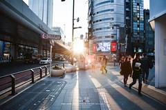 Sunset in Ropponggi (Pop_narute) Tags: sunset ropponggi street life tokyo japan japanese people road sun light shadow