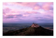 Burg Hohenzollern (Markus1224) Tags: zeller horn onstmettingen albstadt burg castle hohenzoller hohenzollern sunset sonnenuntergang clouds wolken nikon d750 alb swabian schwäbische badenwürttemberg germany deutschland ausblick himmel sky