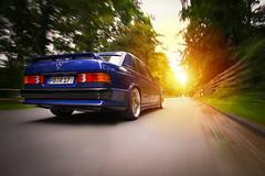 190E Avantgarde Azzurro (DonRaul87) Tags: mercedes benz 190e w201 avantgarde azzurro 16v evo cosworth bbs lm rig rigshot rolling nikon d700 2485