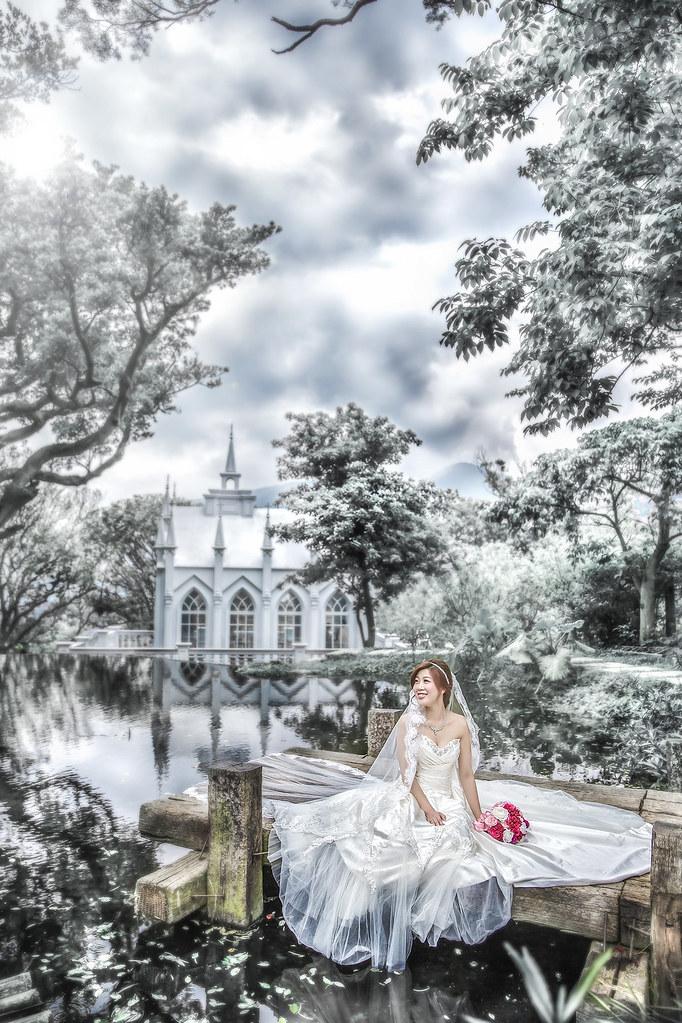042婚紗攝影-婚紗照-台北-陽明山-真愛桃花源-教堂-湖泊