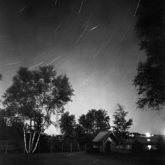 Star Trails (Howard Sandler (film photos)) Tags: startrails film mediumformat blackandwhite longexposure night square bronica zenzanon xtol rolleiir400