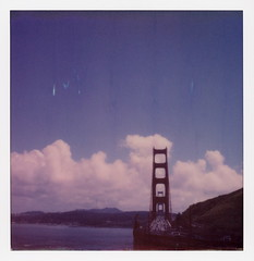 Golden Gate Bridge View (tobysx70) Tags: polaroid originals color 600 instant film slr680 golden gate bridge view sausalito marin county san francisco bay california ca vista tower suspension blue sky clouds polavacation 042818 toby hancock photography