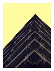 C O R N E R (H E G I N G E R) Tags: architecture art addiction archistudent experiment building balcony yellow grey edge trip town germany stuttgart 2018 archilovers archiphoto repetition rhythm colour czech city contrast corner sky europe
