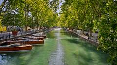 Annecy - HDR (Gui.llau.me) Tags: annecy france city ville lac water landscape boat bateaux bateau green eau verte symétrie symetrical