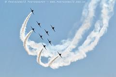 0492 Lightning formation (photozone72) Tags: aviation airshows aircraft airshow yeovilton yeoviltonairday canon canon100400f4556lii canon7dmk2 7dmk2 raf rafat redarrows reds redwhiteblue smoke