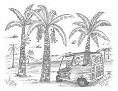 Collector (rod1691) Tags: myart art sketchbook bw scfi grey concept custom car retro space hotrod drawing pencil h2 hb original story fantasy funny tale automotive illustration greyscale moonpies sketch sexy voodoo