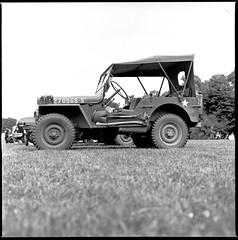 Willis on the grass (•Nicolas•) Tags: 100iso analog analogique bronica fomapan france ilfosol koolday motorshow s2 yvelines willis jeep military classic car nicolasthomas