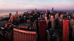 Good Morning Chicago.jpg (Milosh Kosanovich) Tags: nikond800e sunrise precisiondigitalphotography chicago kolorautopanogiga mickchgo 360chicago chicagophotographicart goldenhour johnhancockobservatory chicagophotographicartscom miloshkosanovich instameet panorama chicagophotoart nikkor24mmpce dxonikcollection dxophotolab tiltshift
