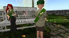 Willow scout awards (cadeSL) Tags: secondlife sl second life virtual world avatar scouts willow award badge uniform activities camp boy girl children kids