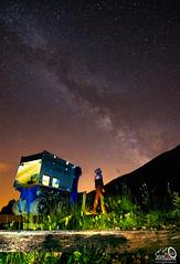 Observando la vía láctea (JesusLobato) Tags: nocturnas nocturna nikond7200 tokina1116 tren minero nightessence via lactea largaexposicion