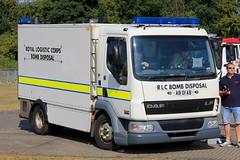 Royal Logistics Corps DAF LF Bomb Disposal Truck (PFB-999) Tags: royal logistics corps rlc daf lf bomb disposal truck lorry vehicle unit lightbar grilles dashlight strobes leds ab01ab rescue day 2018