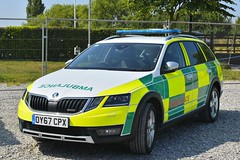 OY67 CPX (S11 AUN) Tags: east midlands ambulance service emas skoda octavia scout estate rrv rapid response vehicle paramedic oy67cpx