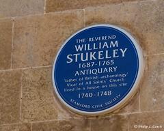 William Stukeley (Philip Lench) Tags: stamford lincolnshire william stukeley archaeology antiquary plaque