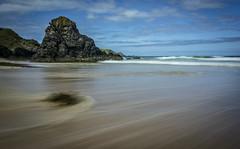 Wet feet (cliveg004) Tags: sangobay durness sutherland scotland sea ocean waves sky clouds rocks sand seaweed le movement landscape nikon d5200
