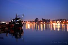 La suave tarde (Johan Andrianoff) Tags: horaazul largaexposicion longexposition bluehour barco barcos rio river ship reflejos reflections blue bluetime