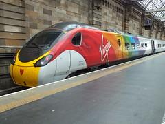 390045 in Glasgow Central with Virgin trains staff attending Pride 2018 (Western SMT) Tags: pride glasgow central virgin trains 2018 pendolino pendo