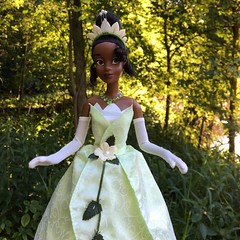 You just kissed yourself a princess (Timb0Wimb0) Tags: princess tiana disney frog doll store parks ballgown black magnolia dress