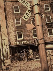 Vintage coffee shop (kateb0625) Tags: street railroad flickr photography home brickbuilding vintage old coffeeshop abandoned art artsy explore downtown city westbottoms kansascity